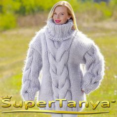 12 strands mega thick and fuzzy hand knitted mohair by supertanya