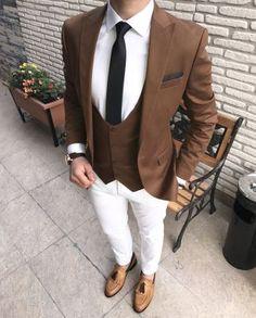 İtalyan kesim slim fit erkek ceket yelek 2 li kombin T1543