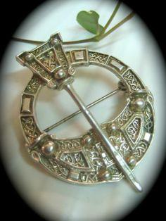 """Vintage Scottish Penannular Kilt Pin Brooch Solid Silver """"AH Castle"""" 15 600gm   eBay"""