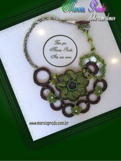 Crochet Necklace / jasmine necklace by Gaby Bautista