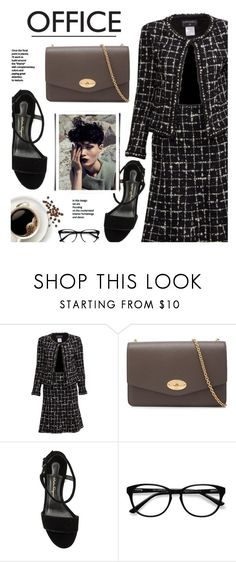 """""""Office Look"""" by reebonz ❤ liked on Polyvore featuring Chanel, Mulberry, EyeBuyDirect.com, WorkWear, black and office"""