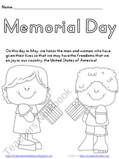 memorial day coloring page great activity for kids on memorial day freebie
