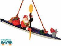 Everything Kayak Sea Kayak Santa Ornament Christmas Kayak Gift