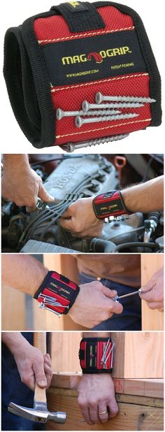 Use the MagnoGrip magnetic wristband to keep tools on your wrist while you work. #affiliate