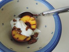 Grilled Peaches with Vanilla Yogurt - all the things