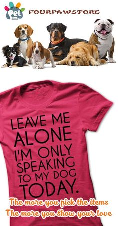 I want to speak with my DOGs