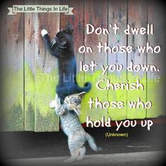 Don't dwell on those who let you down