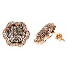 View  Gold<BR> Black Diamond Earrings