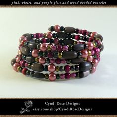 One of a kind, hand crafted jewelry made in the USA by CyndiRoseDesigns Purple Cat, Dark Purple, Beaded Jewelry, Beaded Bracelets, Handcrafted Jewelry, Unique Jewelry, Purple Glass, How To Make Light, Faceted Glass
