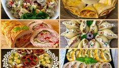 Rolada serowa z kurczakiem, pieczarkami i suszonymi pomidorami - Blog z apetytem Fresh Rolls, Potato Salad, Sushi, Tacos, Snack Recipes, Food And Drink, Mexican, Baking, Ethnic Recipes