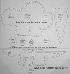 deviantART: More Like Whale Plush Pattern by ~Metacharis