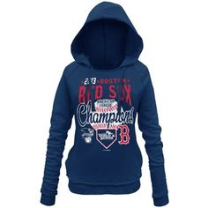 Boston Red Sox 2013 MLB American League Champions Ladies Ultimate Win Pullover Hoodie - Navy Blue