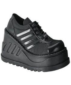 0f1954c8c2c9 STOMP-08 Black Platform Shoes - platform shoes Hipster Grunge