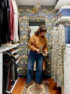 Sara's Closet Reveal - The Bold Design Moment She's Been Craving - Emily Henderson #beforeandafter #homerenovation #mastercloset #DIY Boho Chic Bedroom, Guest Bedroom Decor, Colorful Apartment, Beautiful Closets, Bedroom Paint Colors, Master Closet, Moroccan Style, Decorating Small Spaces, Home Renovation