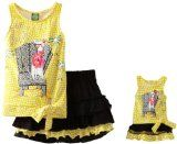 Amazon.com: Dollie & Me Girls Flutter Sleeve Dress With Printed Bottom And Matching Doll Garment: Clothing