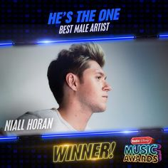 And the #RDMA Best Male Artist goes to @NiallOfficial! Congratulations! #HesTheOne :D Awww yeahh!!!!!!!!!! :D 29/4/17
