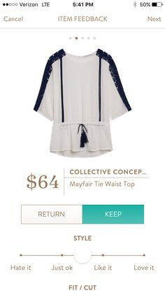 Collective Concepts Mayfair Tie Waist Top