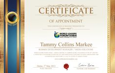 Certificate Tammy Co