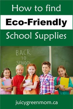School supplies don't have to be hard on the environment! Find #ecofriendly #recycled supplies!