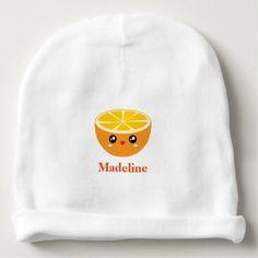 #cute #baby #beanies #babybeanies - #Cute Girly Kawaii Happy Sweet Orange Cartoon Baby Beanie
