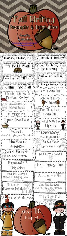 Free for a limited time! Fall Writing Prompts and Printables is a great resource for you fall classroom! These printables can be used in various ways and your kiddos will be excited and engaged in their writing.