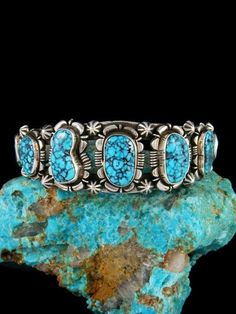 Vintage Turquoise, Green Turquoise, Turquoise Jewelry, Turquoise Bracelet, Bracelets For Men, Link Bracelets, Cuff Bracelets, Silver Cuff, Sterling Silver