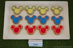 Cookies at a mickey mouse party #mickeymouse #party #cookies