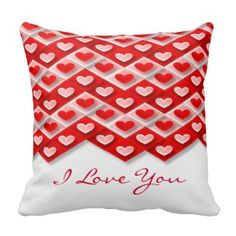 I Love You Forever Pillows #Valentine's #hearts #love #pillows
