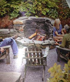 Backyard on Pinterest | Garden Steps, Fire Pits and Sunken Fire Pits