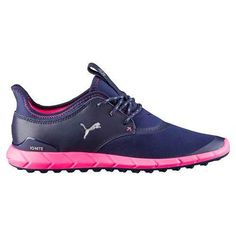 Puma Golf Ladies Ignite Spikeless Sport Shoes: Comfort collarAnatomically shaped collar is flexible and breathable… Spikeless Golf Shoes, Womens Golf Shoes, Sports Shoes, Golf 2, Sport Golf, Golf Putters, Ladies Golf, Women Golf, Golf Accessories