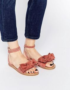 ASOS COLLECTION ASOS FULLY Suede Bow Sandals
