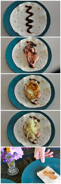 Something yum for the weekend! Bacon & Egg Toasted Breakfast Wrap