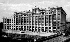 Former Gimbels Department Store, Milwaukee. The building still stands. You can see this, its eastern facade, in  the downtown photo.