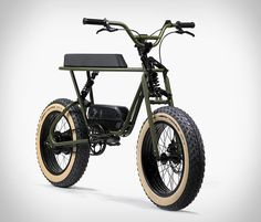 Coast Cycles' latest edition of its Buzzraw mini bike features front and rear shocks and fat tires for a smooth ride. It comes in a pedal-only variant as E Bicycle, Scooter Bike, Moto Bike, Motorcycle Bike, Women Motorcycle, Giant Trance, Bmx, Ride Out, Kart