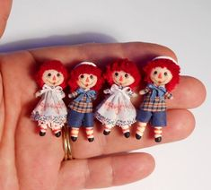 Alicia Volta of Aligra Dolls ♥ Miniature Dollhouse Furniture, Dollhouse Toys, Miniature Dolls, Dollhouse Miniatures, Ann Doll, Raggedy Ann And Andy, Tiny Dolls, Vintage Dolls, Beautiful Dolls