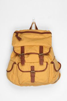 "Ecote Solid Canvas Backpack -- ""Not only is it cute and stylish, but it is also functional."""