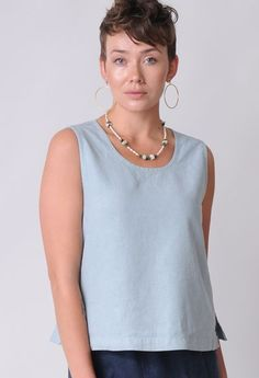 Sympatico Clothing's ethically-made hemp Tencel Tank Top ($65) offers enough coverage to wear alone or layers beautifully beneath a jacket. Ethical Clothing, Ethical Fashion, Slow Fashion, Travel Clothes Women, Travel Clothing, Fashion Moda, Sustainable Clothing, Tank Tops, Women's Tops
