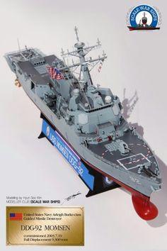 DDG-92, built by master modeler Kim hyun-soo, south korea