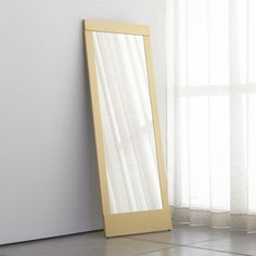 Brighten your home with wall, floor and over-the-door mirrors from Crate and Barrel. Shop shapes such as round, rectangular, starburst and more online.