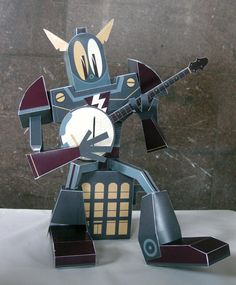 Creative Review - Paper toys: Custom Paper Toys and it is my kind of Banjo too  :)