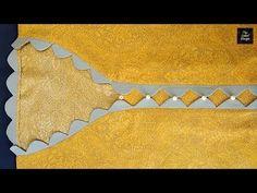 Beautiful Kurti Collar Neck Design / V shape collar neck design Blouse Back Neck Designs, Chudidhar Neck Designs, Neck Designs For Suits, Sleeves Designs For Dresses, Neckline Designs, Sleeve Designs, Blouse Neck, Blouse Designs, Salwar Kameez Neck Designs