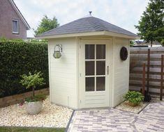 Garden Sheds Uk, Backyard Sheds, Large Backyard, Shed Design, Garden Design, Child Friendly Garden, Posh Sheds, Corner Sheds, Summer House Garden
