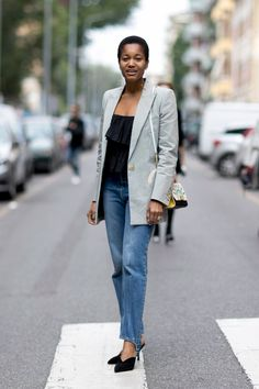 The Street Style at Milan Fashion Week May Be the Best Yet Day 2 Tamu McPherson