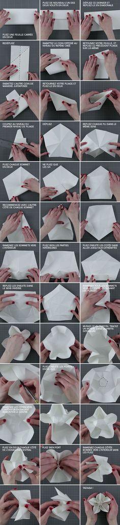 Adeptes du Do It Yourself, découvrez notre toute nouvelle vidéo pour fabriquer votre guirlande lumineuse. Parfaite pour les douces soirées d'été. Suivez toutes les instructions sur notre vidéo : Pour vous aider, voici le détail des fleurs en origami :