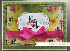 Kiss me, I'm Irish! by @canyoupixelthis for @therubbercafe using @bobunny #card #creativecafeKOTM #stamping