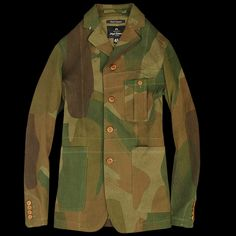 UNIONMADE - NIGEL CABOURN - Notch Collar Work Jacket in Camo