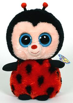 Sparkle BUGSY  The Ladybug 6 inch Ty Beanie Boo Glitter Eyes- NEW  MINT TAGS