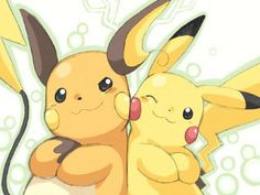 Everyone acts like pikachu and Taichung are best friends, but if you watch the pokemon movie, about pikachu going to a poke-park! they get in a fight. -_- but hey, who doesn't love pokemon? Pokemon Go, Pokemon Poster, Pokemon Fan Art, Cool Pokemon, Pokemon Games, Baby Pokemon, Pokemon Couples, Pokemon Dolls, Pokemon Fusion