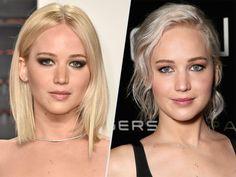 Jennifer Lawrence platinum blonde hair