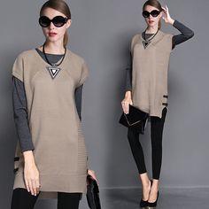jiaweii Lady 率性皮釦裝飾修身針織洋裝:我的時尚夢工廠 myDress 時裳韓風